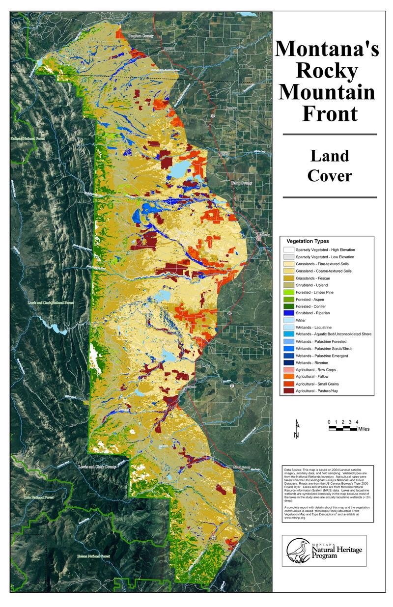 Rocky Mountain Front Vegetation Information - Us vegetation map